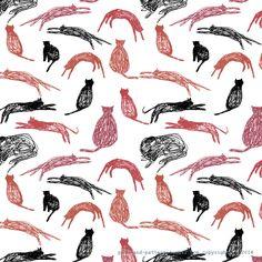 cat sketch pattern