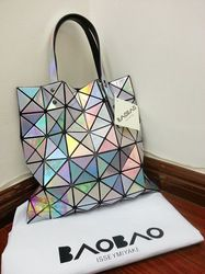 Online Shop Freeshipping Issey MIYAKE baobao metal color handbag women s  handbag laser shoulder bag bcd28ed587a78