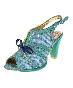Take a look at this Green Floral Jungle Jane Slingback by Irregular Choice on #zulily today!