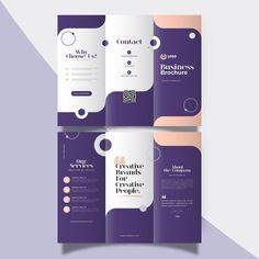 Brochure Folds, Brochure Cover, Brochure Layout, Brochure Template, Leaflet Layout, Booklet Design, Leaflet Design Template, School Brochure, Business Brochure