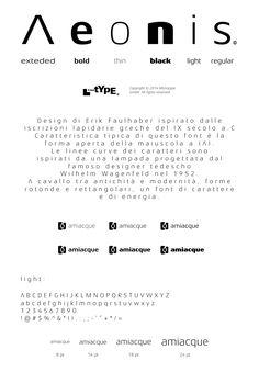 Amiacque brand - Logotype & Typography