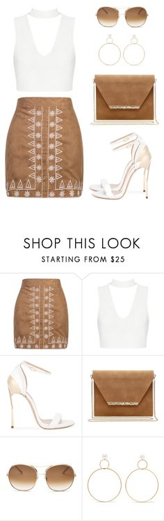 """""""Untitled #1413"""" by gallant81 ❤ liked on Polyvore featuring WithChic, Casadei, Mambo, Chloé and Natasha Schweitzer"""