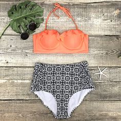 Cupshe Hit Refresh Halter High-waisted Bikini Set 🌊| https://www.cupshe.com/products/cupshe-hit-refresh-halter-high-waisted-bikini-set?lssrc=related