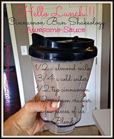 Cinnamon Bun Shakeology Recipe - 1 scoop vanilla Shakeology cup almond milk cup water 1 tbsp all natural peanut butter banana a few pieces of ice Directions: Blend and Enjoy! Juice Smoothie, Smoothie Drinks, Healthy Smoothies, Healthy Drinks, Smoothie Recipes, Healthy Recipes, Healthy Breakfasts, Fruit Smoothies, Healthy Foods