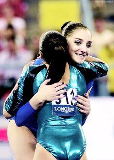 Aliya Mustafina and Larisa Iordache