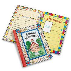 Deluxe School Memories Keepsake Photo Album Scrapbook from Preschool Through 12th Grade