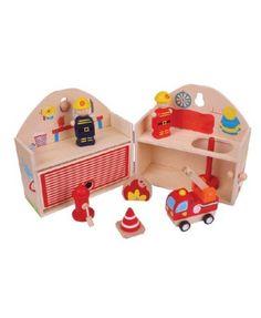 Mini Fire Station Playset,Bigjigs Toys