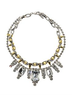 Baroque crystal and spike necklace | Joomi Lim