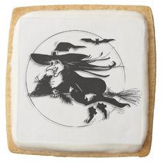 Halloween Witch Square Shortbread Cookie - halloween decor diy cyo personalize unique party