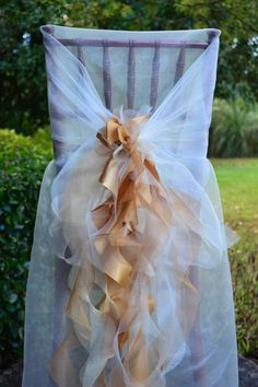 Gold curly willow chair sash