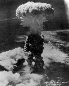 Atomic explosion over Nagasaki. August 9, 1945