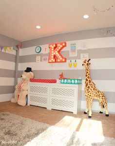 Colorful circus gender neutral nursery for baby Peanut – The reveal! | How Joyful