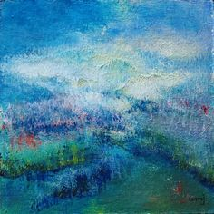 Daily Painting: on board, cm. Square Canvas, Landscape Paintings, Art Ideas, Abstract Art, Victorian, Board, Inspiration, Outdoor, Impressionism