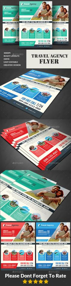 Travel Agency Flyer Template PSD - Download: https://graphicriver.net/item/travel-agency-flyer/21694840?ref=ksioks