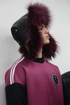 Pink fur trapper hat backstage at Astrid Andersen AW15 LCM. See more here: http://www.dazeddigital.com/fashion/article/23139/1/astrid-andersen-aw15