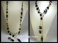 Agate Necklace, Beaded Necklace, Wild Ginger, Glass Pendants, Header, Blue Sapphire, Spotlight, Tassel, Opera