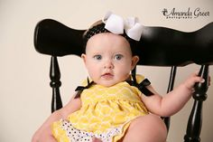6 Month Little Girl Photo Session