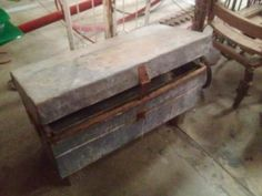 "Repurposed Saw Box Coffee Table   $95.00  Rustiquities Vendor ""BL"" or "" pumpkin guy""  Red Barn 305 W Madison Waxahachie, Tx 75165  Open: Wed-Sat.   9:00 to 5:00 Sunday.     11:00 to 5:00"