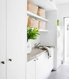 """Exceptional """"laundry room storage diy"""" info is available on our website. Read more and you wont be sorry you did. Small Storage, Diy Storage, Storage Ideas, Storage Shelves, Laundry Room Pictures, Small Laundry, Hidden Laundry, Laundry Tips, Laundry Room Organization"""