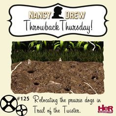 Happy Groundhog Day! Remember giving the prairie dogs a new home? If not, get Nancy Drew: Trail of the Twister for 50% off (digital) using promo code GROUNDHOG17 at checkout, today only! Shop at herinteractive.com!    #NancyDrew #GroundhogDay #HeRInteractive