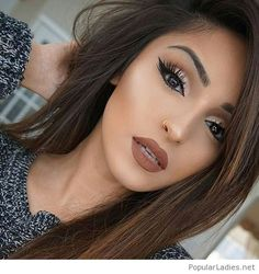 amazing-brown-makeup-and-hair-color