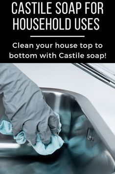 Replace chemical-based household products with non-toxic castile soap. Check out how one bottle of castile soap can eliminate many toxic products from being used in your home Natural cleaning products Natural Cleaning Solutions, Natural Cleaning Recipes, Natural Cleaning Products, Household Products, Household Cleaners, Castile Soap Uses, Castile Soap Recipes, Detox Your Home, Chemical Free Cleaning