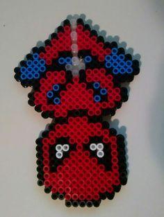 Marvel Spiderman perler bead sprite by BriezBeadz on Etsy