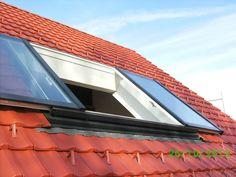 VIVAVITRO woonruimte schuif dakramen met 2 schuifbare raamvleugels zijn te verkrijgen in de maten: Breedte 120 cm max. 280 cm Hoogte 100 cm tot max. 220 cm