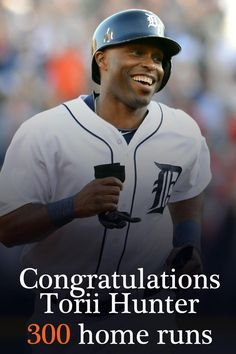 Torii Hunter hits home run ~ I LOVE this kind man! Loved him when he played for the Twins, now even more that he is a Tiger! Espn Baseball, Detroit Tigers Baseball, Detroit Lions, Baseball Players, Baseball Wall, Baseball Gear, Baseball Season, Football, Torii Hunter
