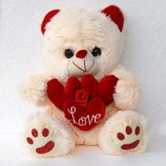 Here Is A Unique Cute Teddy Holding Lovable Three Hearts With His Soft Plush Hands This Looking Very Adoring As Well Innocent