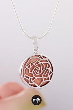 Smell the Roses Aromatherapy Pendant Meaningful Jewelry, Aromatherapy, Essential Oils, Fragrance, Roses, Feminine, Clay, Pendant Necklace, Sterling Silver
