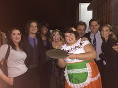 """""""Some like it HOT. Are fantastic cast w/my PA as their waitress tonight! Yeah go Zoa! Criminal Minds Season 11, Criminal Minds Funny, Criminal Minds Cast, Jennifer Jareau, Aj Cook, Crimal Minds, Dr Spencer Reid, Paget Brewster, Kirsten Vangsness"""