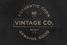 Vintage Labels & Logos Vol.7 by Zeppelin Graphics on Creative Market