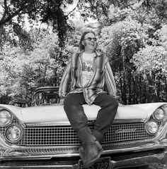 Neil Young and his Lincoln Continental