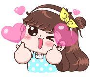 Boobib Lovely Daily (... | 光頭賣 - 最大的LINE貼圖代購網 | 全館通通降五元 VIP儲值300送40 Baby Girl Earrings, Simple Icon, Cartoon Gifs, Kawaii Drawings, Girl Humor, Cute Stickers, Princess Peach, Minnie Mouse, Disney Characters