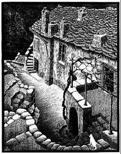 M.C. Escher – Corte, Corsica, 1929