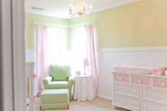 Quinn's Girly Nursery | Project Nursery Love chair and table