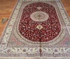 6'x9' Handmade Hand-knotted 200 kpsi Silk Oriental Persian Tabriz Rug 564