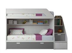 Childrens Bedroom Furniture, Modern Bedroom Furniture, Furniture Plans, Bedroom Decor, Twin Girl Bedrooms, Girls Bedroom, Home Designer, Home Decor Shelves, Tiny Spaces