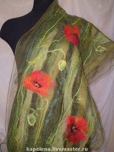 Nuno Felting, Needle Felting, Scarf Tutorial, Wool Scarf, Felted Scarf, Felting Tutorials, Creation Couture, Felt Art, Silk Painting