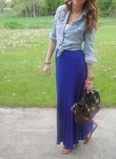 chambray and maxi - campus style