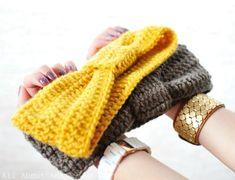 DIY knotted crocheted headband