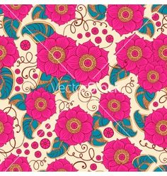 Seamless floral pattern vector by Baksiabat on VectorStock®