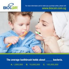 The Average Toothbrush Holds About ______Bacteria.