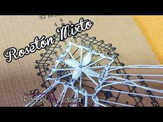Rosetón Mixto - Bolillotutorial - Raquel M. Adsuar Bolillotuber - YouTube Needle Lace, Bobbin Lace, Lace Heart, Lace Jewelry, Lace Making, Lace Detail, Butterfly, Stitch, Knitting