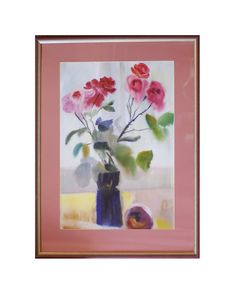 Flower painting Original artwork Watercolor painting by Pysar