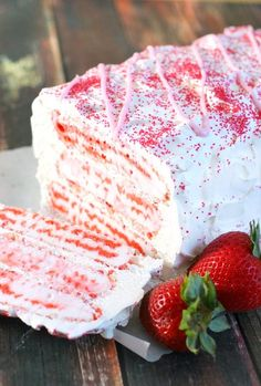Strawberry Shortcake Bar Ice Cream Cake We LOVE to Pin the Latest Photos from around the World!  Please help support us by visiting:  http://TexasTrim to see our Deeply Discounted Heels and Accessories! Delivered right to your door!  http://PinterestBob.com