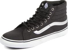 Check out the Vans - Unisex Sk8-Hi Slim Shoes in (Metallic) Black and other Vans at DressCodeClothing.com