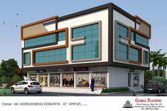 Plaza Design, Mall Design, Shop Front Design, Office Building Architecture, Building Facade, Architecture Design, Facade Design, Exterior Design, Home Cinema Room