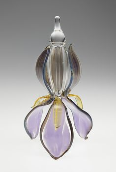 Flower Perfume Bottles by Loy Allen: Art Glass Perfume Bottle available at www.artfulhome.com